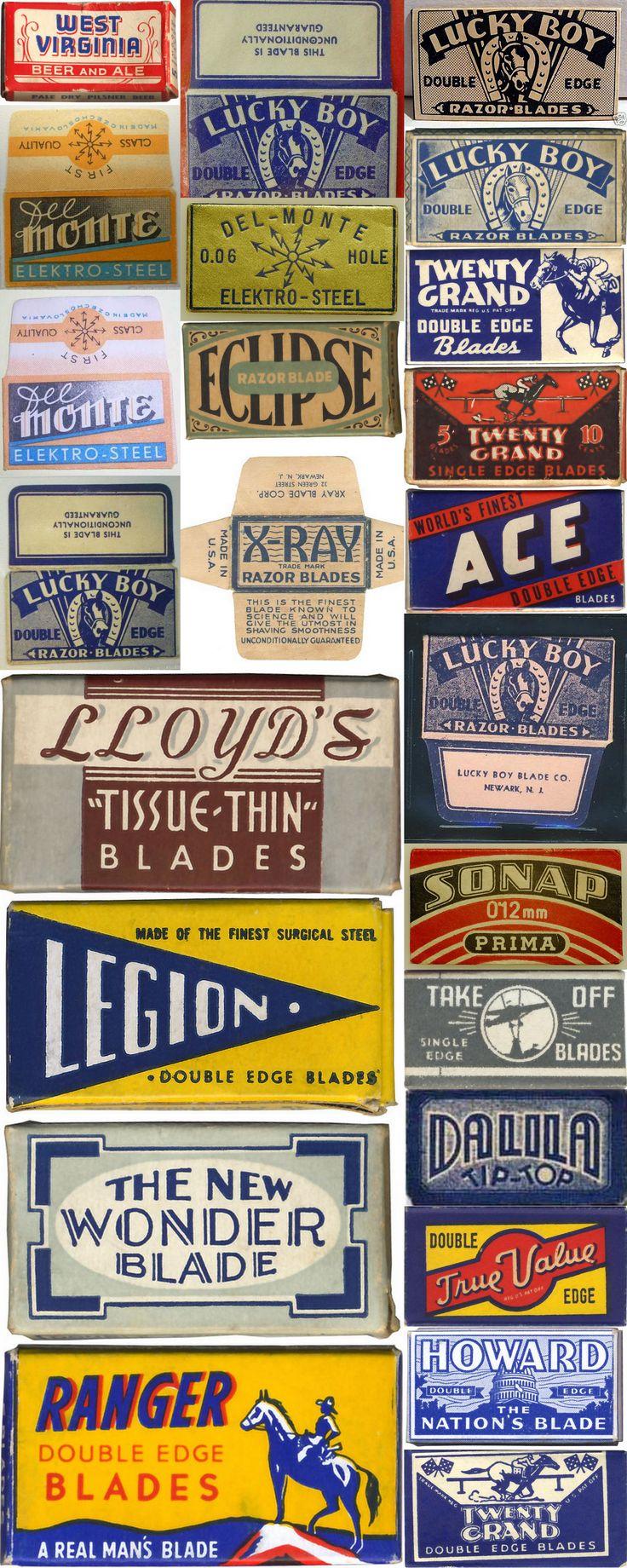 Various Razor Blade Packaging