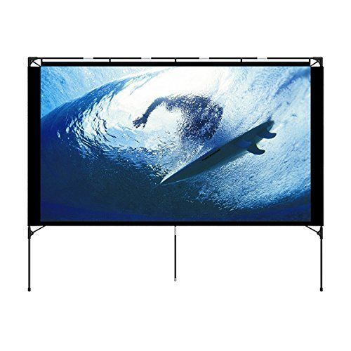Movie Projector Screen 74.4 Inch Foldable Portable Home Theater Outdoor 16:9 New #ProjectorScreen744Inch