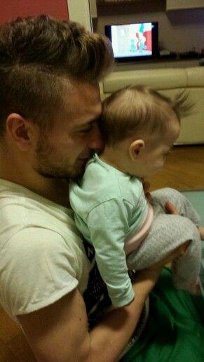 Ciro Immobile y su hija