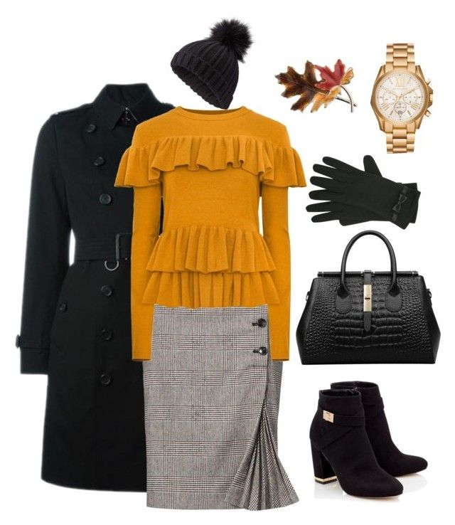 """""""Monday outfit inspiration... #colddays"""" by rebeccaodil on Polyvore featuring Burberry, Lipsy, Miss Selfridge, M&Co, Anne Klein and Michael Kors"""
