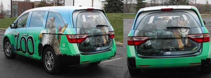 The Cincinnati Zoo S 3d Vehicle Wrap Car Wrap Vehicles