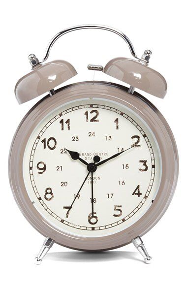 Check out my latest find from Nordstrom: http://shop.nordstrom.com/S/4012198  CREATIVE CO-OP Creative Co-Op Double Bell Alarm Clock  - Sent from the Nordstrom app on my iPhone (Get it free on the App Store at http://itunes.apple.com/us/app/nordstrom/id474349412?ls=1&mt=8)