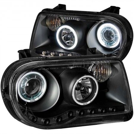 Anzo 121251 | 2007 Chrysler 300 Black CCFL Halo Projector Headlights for Sedan