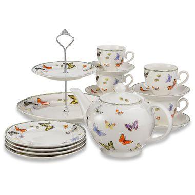 Janneke Brinkman Vlinder High tea serviesset - 10-delig