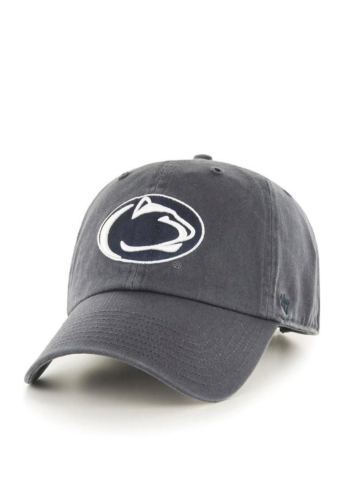7ab0821c ... uk 47 penn state nittany lions mens grey clean up adjustable hat image  1.