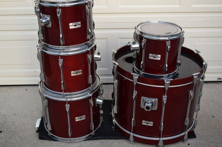 Yamaha Recording custom birch shell drum set kit excellent!-used drums for sale #Yamaha