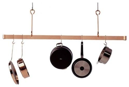 Premier Offset Hook Ceiling Hanging Pot Rack traditional pot racks