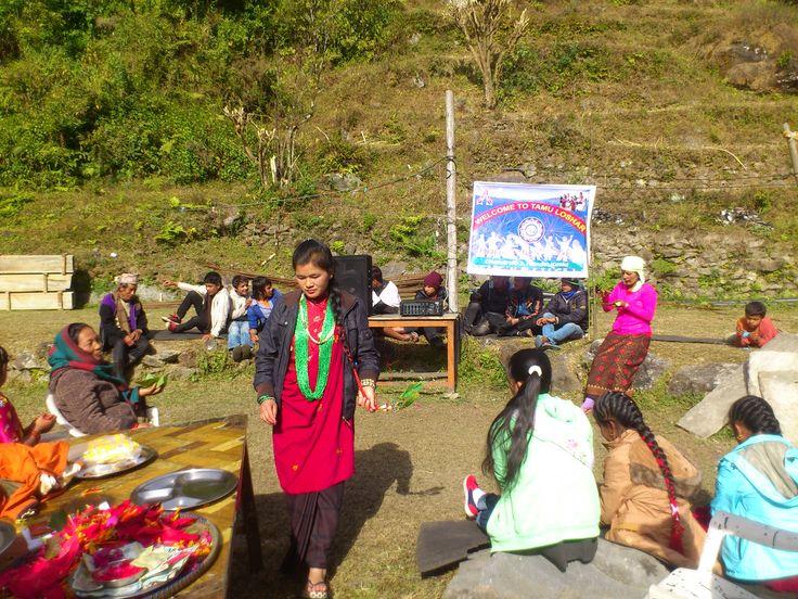 Thamu Lhosar Gate in Ghandruk Gate #trekking #Gurung #village #Ghandruk #Ghandrung #hospital #travel #Tamu #Lhosar #New Year
