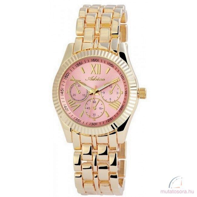 Adrina Pink színű  Köves Chrono style Női Óra Arany