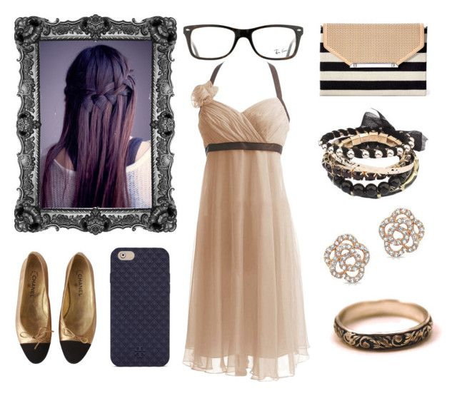"""""""I.P Formal/Casual Night"""" by fantasyblast on Polyvore featuring Chanel, Stella & Dot, Tory Burch and Ray-Ban"""
