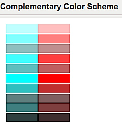 Red Complementary Color Scheme 26 best color complementary images on pinterest | colors, color