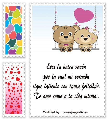palabras originales de amor para mi pareja,textos bonitos de amor para whatsapp : http://www.consejosgratis.es/frases-de-amor-para-tu-pareja/