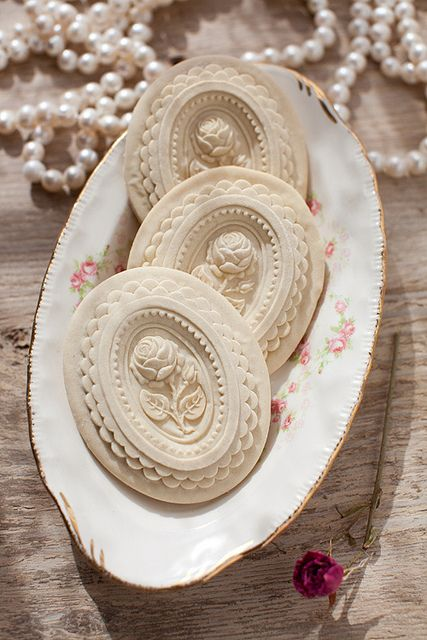 Springerle Holiday Cookies - Frosted, painted or plain, these cookies are gorgeous! House on the Hill has a great selection of cookie molds.
