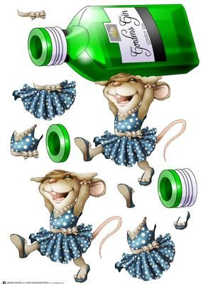 Mrs Gin Mouse Decoupage Sheet on Craftsuprint designed by Gordon Fraser - Mrs Gin Mouse likes nothing better than taking a quick dram of her favourite tipple! Decoupage sheet version with loads of options to create your own designs. More versions of this design are available and she has her own mini kit too! Don't forget to check out my other illustrations and designs, just click on my name. Thanks for looking! - Now available for download!