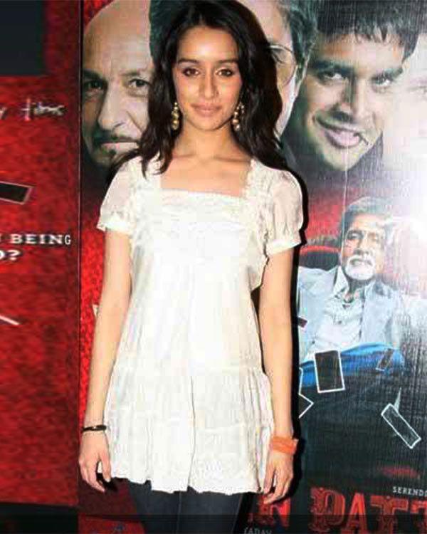 Shraddha Kapoor pretty in white