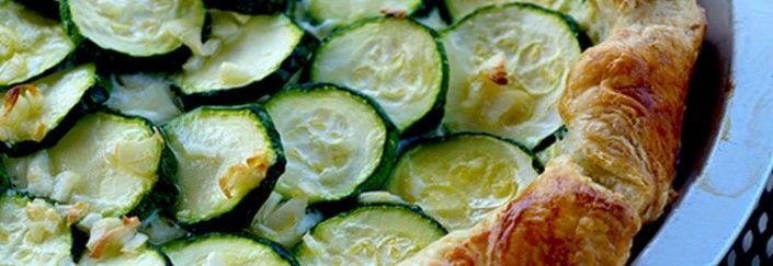 Recette de tarte à la courgette verte et jaune à la ricotta