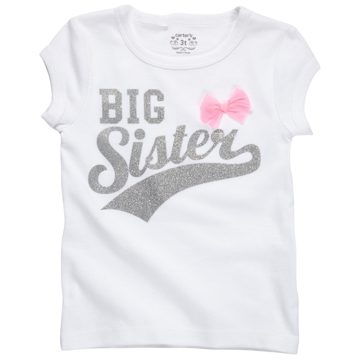 I bought this for Berkley to wear to the hospital so she can match her baby brother!  So cute!