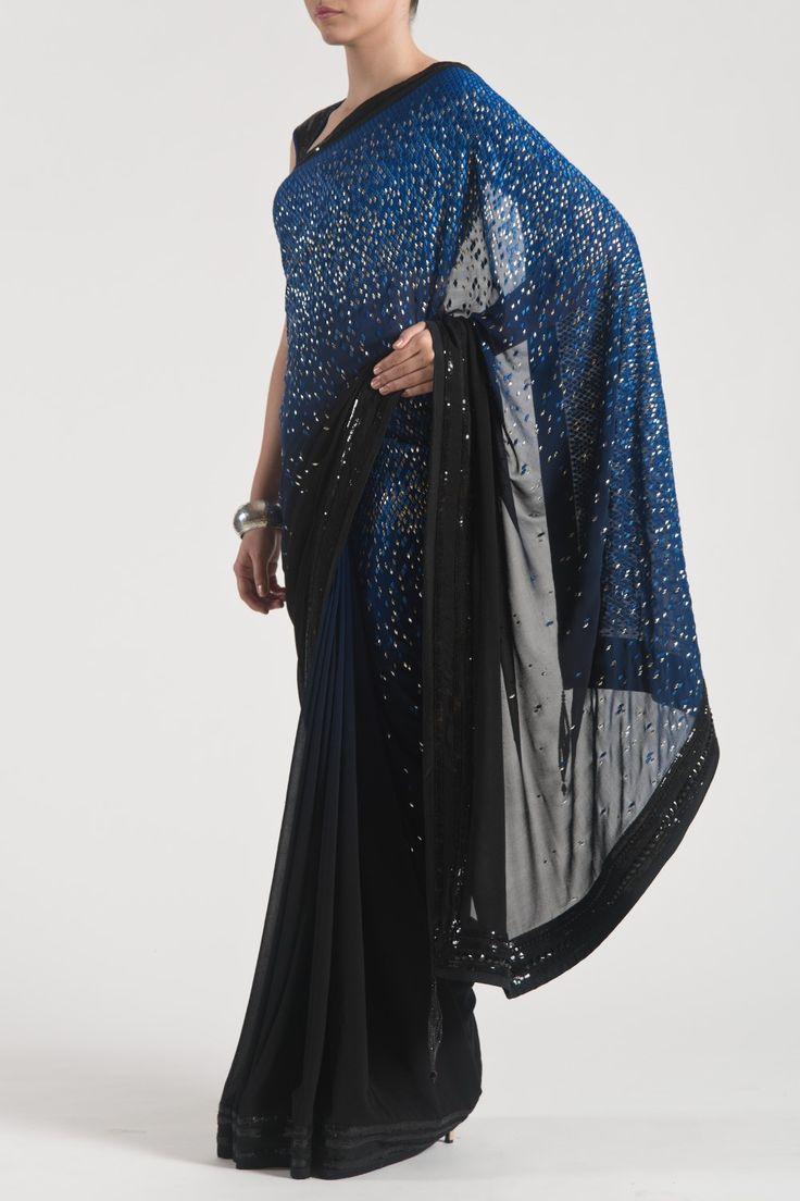 Satya Paul's Dark glamor saree