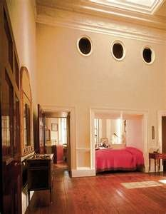 Thomas Jefferson Bedroom, Monticello, Virginia- bed was the divider for bed and sitting/office areas