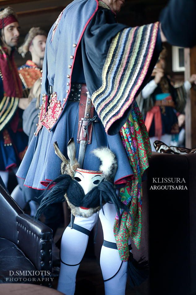 Argoutsaria Carnival Costume in Kleisoura, Kastoria, Greece