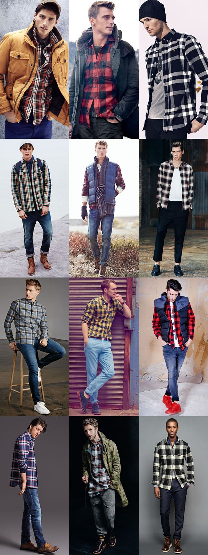 Flannel and denim jacket outfit  Pablo Garetto pablogaretto on Pinterest