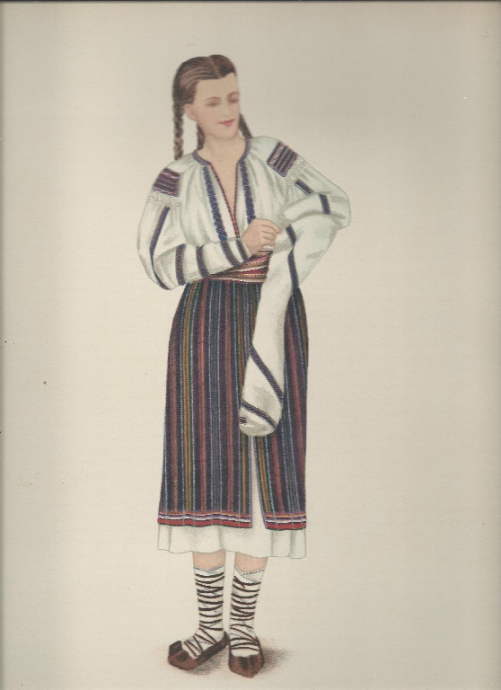 """Popular Roumanian Dress   A Work Completed and Encouraged by the Initiative of   His Majesty King Carol II   Under the Care of Professor Dimitri Gusti   By Alexandrina Enachescu-Cantemire   Printed by """"Scrisul Romanesc   Craiova, 1939"""