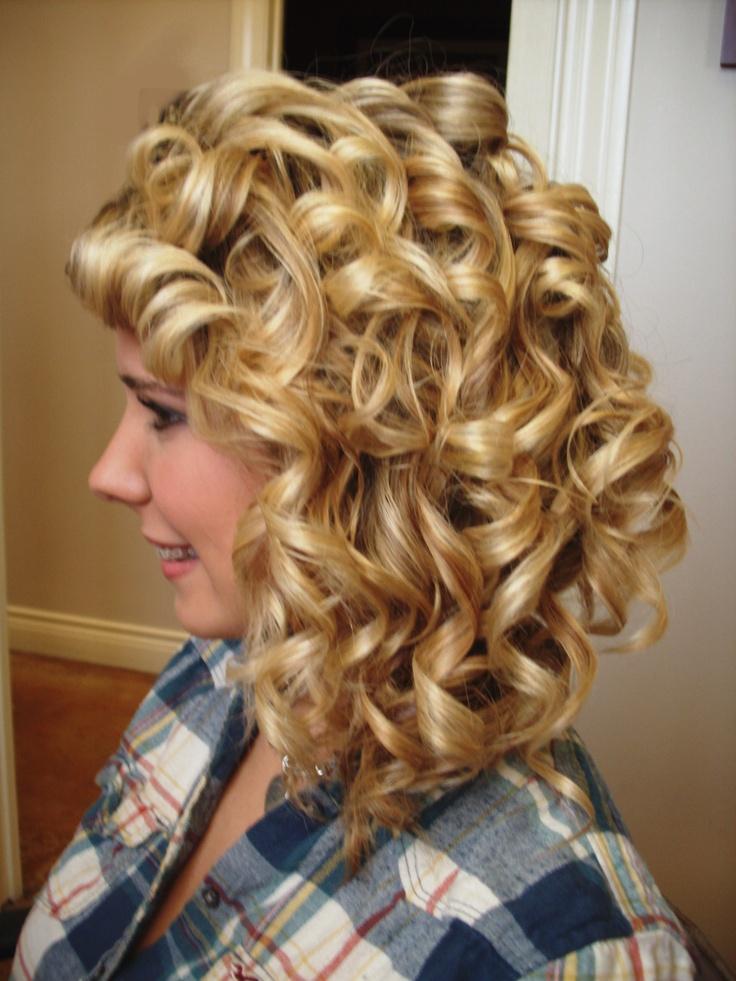 Curly bondage sissy long hair