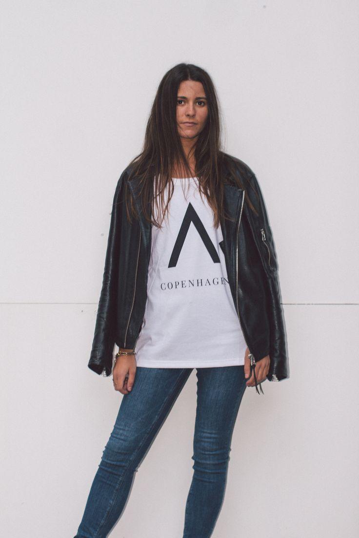 Unisex white ''A Copenhagen'' Tshirt from Audace Copenhagen - 100% Cotton  http://www.audace.dk/collections/t-shirts/products/audace-copenhagen-t-shirt-a-copenhagen-white