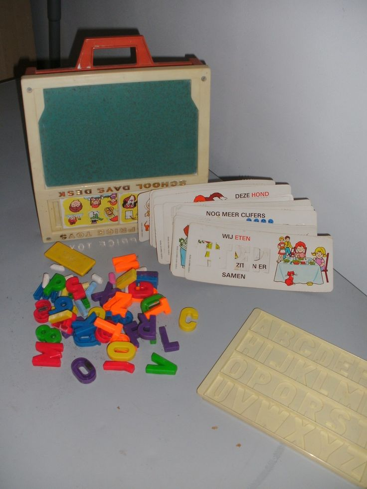 fisher price toys school days desk 1972...I soooo loved this toy!