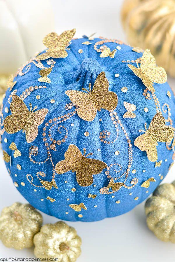 DIY Glitter Butterfly Pumpkin from MichaelsMakers