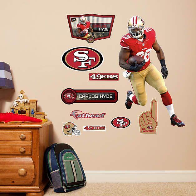 Fathead san francisco 49ers carlos hyde jr decal wall for 49ers wall mural