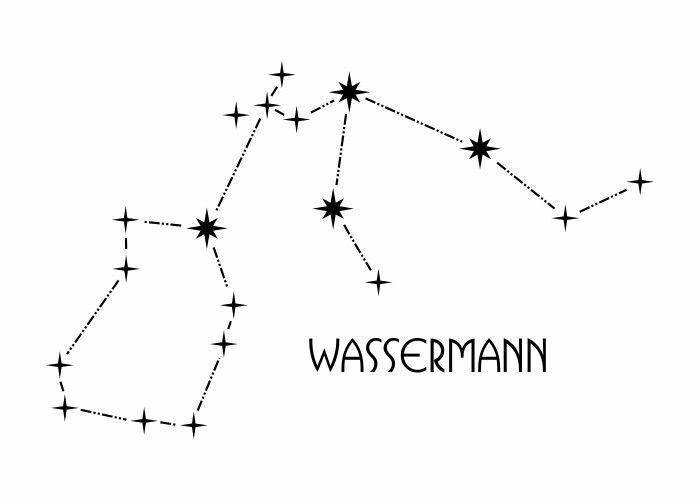 Wandtattoo - Sternbild - Wassermann