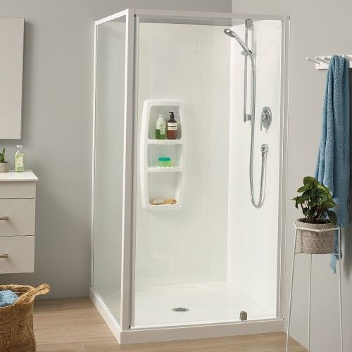 Sierra 1000x1000 2 Sided Moulded Wall White - RRP $1700