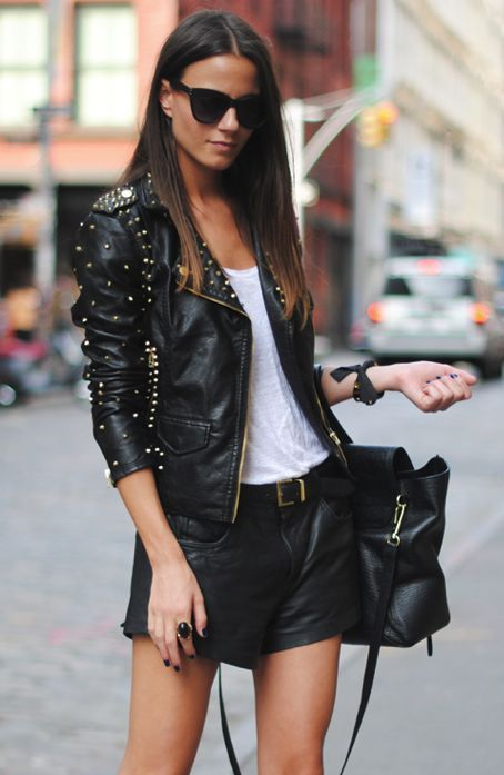 black leather jacket combining 30 best outfits #Mode #leather jacket #black leather jacket