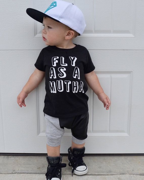 pretty fly for a toddler boy clothes funny boy shirt by Our5loves