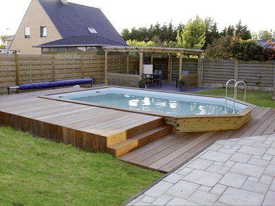 les 25 meilleures idees de la categorie piscine semi With terrasse en bois pour piscine hors sol 5 piscine 100 bois decouvrez cette nouvelle piscine bois