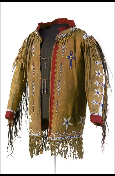 Beaded and quilled man's coat, Pawnee, Oklahoma, circa 1910
