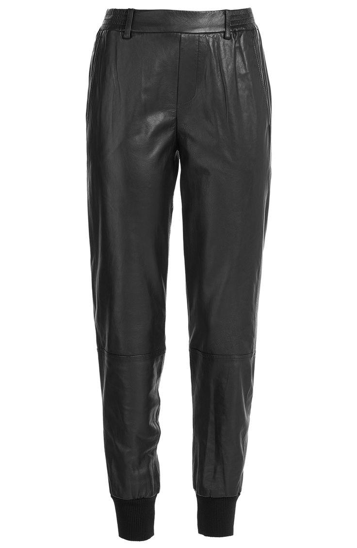VINCE Leather Jogging Pants. #vince #cloth #pants