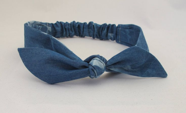 Denim Baby Headband || Baby Girl Headband | Baby Top Knot | Baby Bow Headband | Handmade Headband | Blue Headband | Elastic Headband by littlefolkproject on Etsy https://www.etsy.com/au/listing/557721858/denim-baby-headband-baby-girl-headband