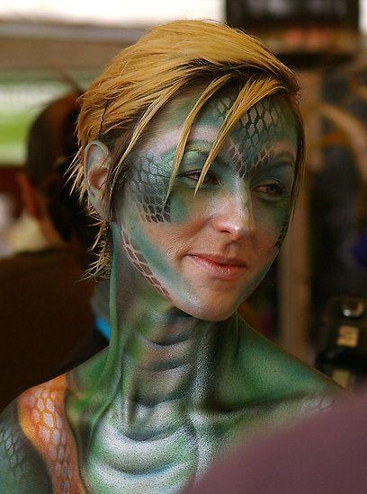 maquillage halloween serpent