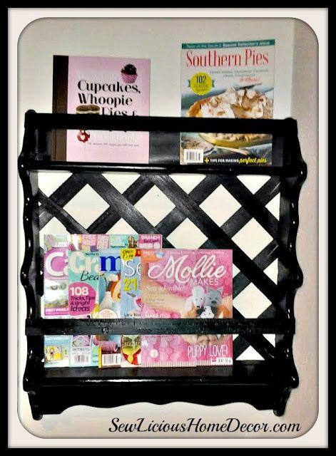shelf makeover Garage Sale Shelf Makeover-DIY