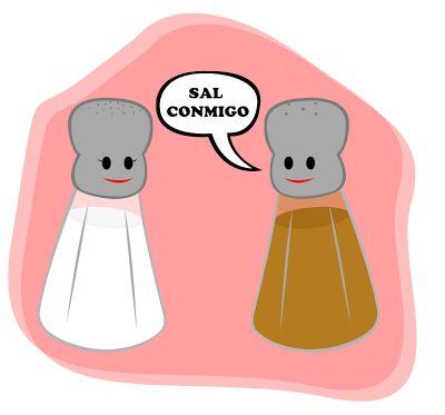 Frases, chistes, anécdotas, reflexiones, Amor y mucho más.: Chiste gráfico, la sal y la pimienta.