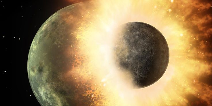While we think of the moon as a familiar, unchanging sight, when compared with the other moons in the solar system it's a bit weird. Earth's moon is relatively big compared to our planet, its orbit is far from Earth and its tilt is huge.  All of this could be explained by a big collision that took place between the Earth and a Mars-sized object early in the evolution of our solar system, according to University of Maryland researchers. After the big crash about 4.5 billion years ago,
