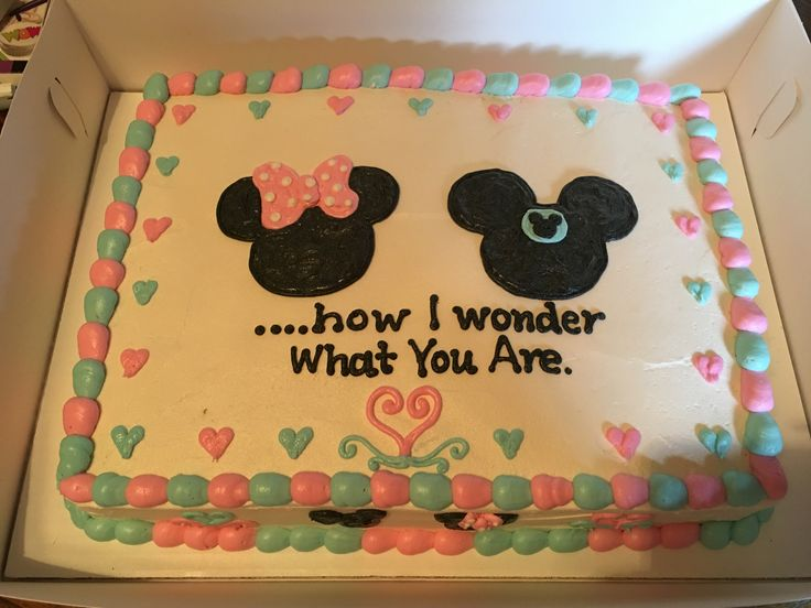 Gender Reveal Mickey and Minnie / Disney #kmshack