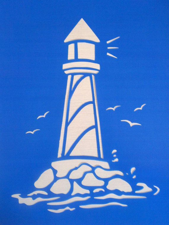 Lighthouse stencils by BellaArtandDesign on Etsy