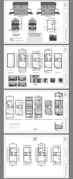 16x30 Tiny House -- #16X30H11 -- 901 sq ft - Excellent Floor Plans