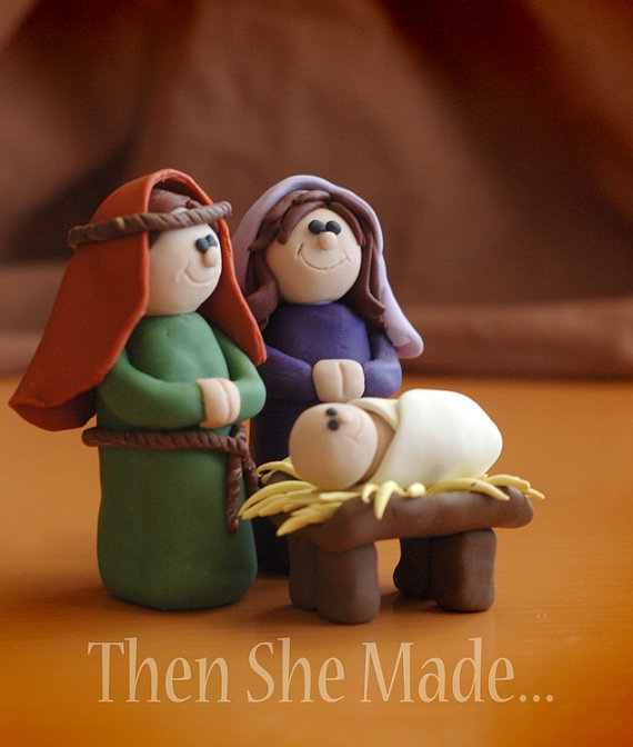 on Etsy - Holy Family Nativity set
