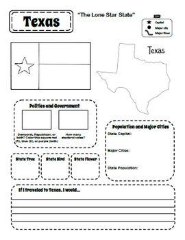 Printable 50 States Student Workbook