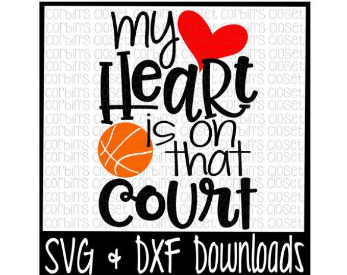 Baloncesto mamá SVG * baloncesto SVG * mi corazón es el que corte corte archivo - dxf y archivos SVG - Silhouette Cameo, Cricut