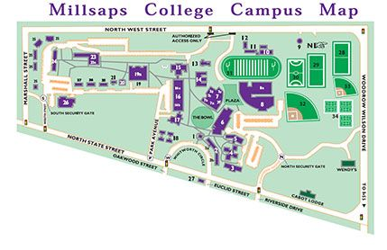 Campus Map Millsaps College Chandler Pinterest Campus Map